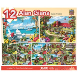 Beautiful Gardens 12-Puzzle Multipack - Image 1 of 2
