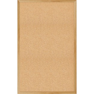 Cork Bulletin Board With Wood Frame - Image 1 of 1