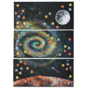Galactic Space Triptych Collaborative Craft Kit - Image 1 of 4