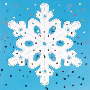 Snowflake Craft Kit (Pack of 12) - Image 1 of 1