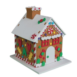 Foam Gingerbread Houses Craft Kit - Image 1 of 2