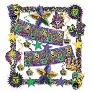 Mardi Gras Decorating Kit - Image 1 of 1