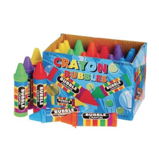 Bubbles with Crayon-Shaped Bottle (Pack of 24) - Image 1 of 2