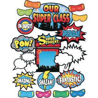 Superhero Bulletin Board Set - Image 1 of 1