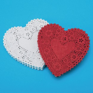 Heart-Shaped Paper Lace Doilies, 4