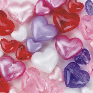 Heart Bead Assortment 1/2-lb Bag - Image 1 of 1