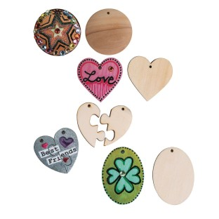 Wood Pendants (Pack of 50) - Image 1 of 1