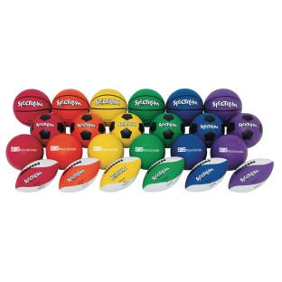 Spectrum™ Official Size Rubber Sports Ball Easy Pack - Image 1 of 1