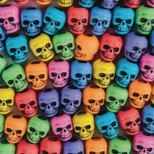 Assorted Color Skull Beads 1/4 lb Bag - Image 1 of 1