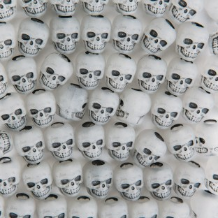 Glow-in-the-Dark Skull Beads 1/4-lb Bag - Image 1 of 2