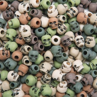 Camouflage Skull Beads, 1/4lb Bag - Image 1 of 1