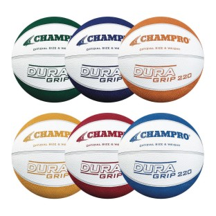 Champro® DuraGrip 220 Rubber Basketballs, Intermediate Size (Pack of 6) - Image 1 of 1