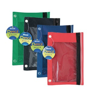 3 Ring Pencil Pouch with Mesh Window (Pack of 24) - Image 1 of 1