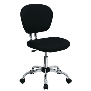 Mid-Back Mesh Swivel Task Chair, Black - Image 1 of 1