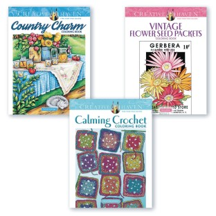 Creative Haven® Country Calm Coloring Books (Set of 3) - Image 1 of 1