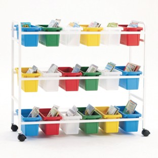 Copernicus Book Browser Cart™ with 18 Storage Tubs - Image 1 of 1