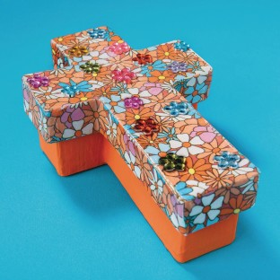 Paper Mache Cross Box (Pack of 6) - Image 1 of 2