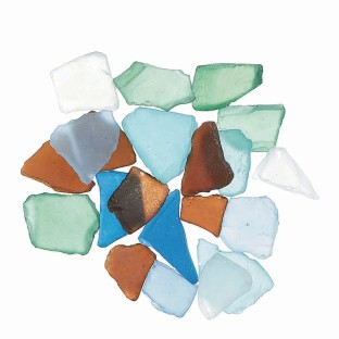 Faux Sea Glass Chips, Ocean Blue, Assorted Colors - Image 1 of 1