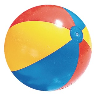 "Classic Inflatable Multi-Color Beach Ball, 24"" - Image 1 of 2"