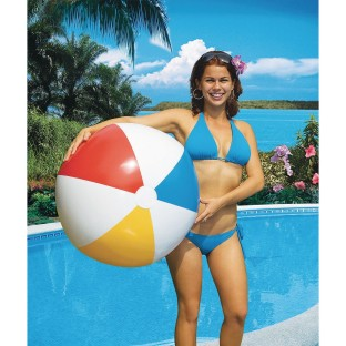 "36"" Giant Classic Inflatable Multi-Color Beach Ball - Image 1 of 1"