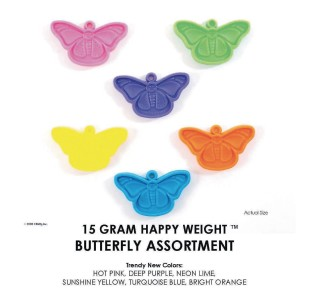 Happy Weight™ 15-Gram Butterfly Balloon Weights  (Pack of 50) - Image 1 of 2