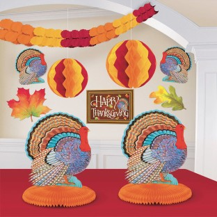 Colors of Autumn Thanksgiving Party Room Decorating Kit - Image 1 of 1