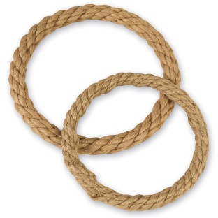 Jute Rope Covered Wreath, 10