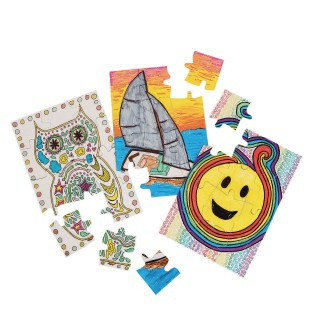 Color-Me™ Blank Puzzlers (Pack of 24) - Image 1 of 2