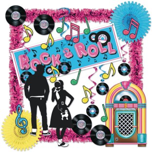 Rock & Roll Sock Hop Decorating Kit - Image 1 of 1