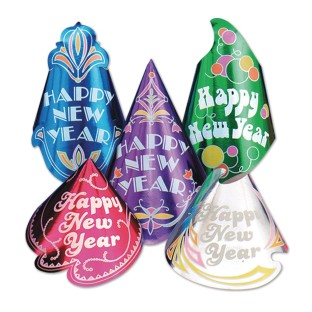 New Year's Glitter Hats (Pack of 50) - Image 1 of 1