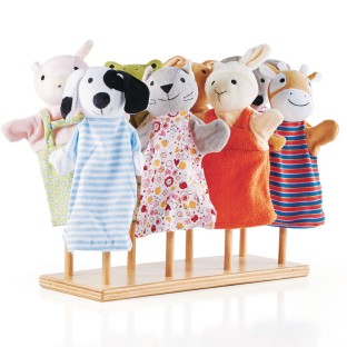 Guidecraft® Solid Hardwood Puppet Stand - Image 1 of 2