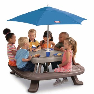 Little Tikes™ Fold N Store Picnic Table with Umbrella - Image 1 of 1