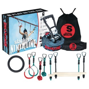 NinjaLine 36' Intro Kit with 7 Hanging Obstacles - Image 1 of 6
