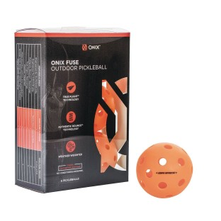Onix™ Fuse Outdoor Pickleballs, Orange - Image 1 of 4