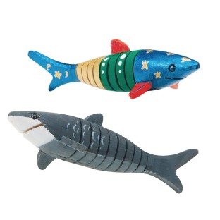Flexible Wooden Shark Craft Kit (Pack of 12) - Image 1 of 2
