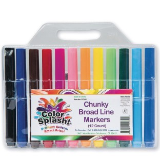 Color Splash!® Chunky Broad Line Markers (Pack of 12) - Image 1 of 2