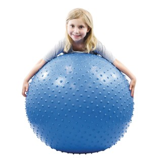 "Cando® Inflatable Exercise Sensi-Ball – 34"" Blue - Image 1 of 1"