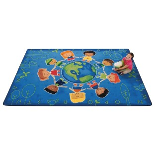 Give The Planet A Hug™ Rug, Three Sizes,  - Image 1 of 1