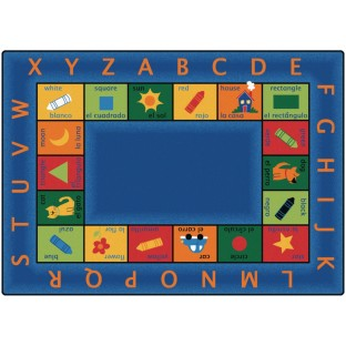 Bilingual Circletime Rug, 8'4