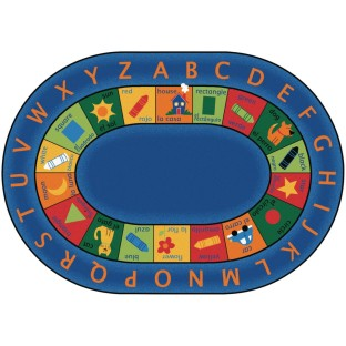Bilingual Circletime Rug, Oval - Image 1 of 1