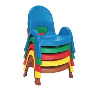 "Children's Factory® Value Stack™ Chairs, 5"" Solid Colors, Blue (Pack of 4) - Image 1 of 1"