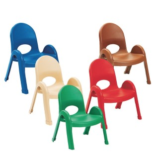 "Children's Factory® Value Stack™ Chairs, 9"" Solid Colors (Pack of 4) - Image 1 of 6"