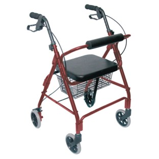 HealthSmart Ultra Lightweight Rollator with Straight Backrest,  - Image 1 of 3