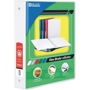 3-Ring View Binder, 1-1/2