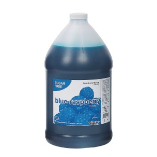 Sugar-Free Blue Raspberry Sno-Kone® Syrup Gallon Case (Case of 4) - Image 1 of 1