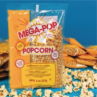 Mega Pop® Corn, Oil and Salt Kit for Popcorn Makers with a 6 oz. Kettle - Image 1 of 2