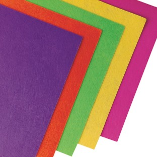 Color Splash!® Neon Felt Sheet Assortment (Pack of 50) - Image 1 of 1