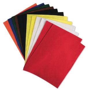 Color Splash!® Felt Sheet Assortment (Pack of 12) - Image 1 of 1