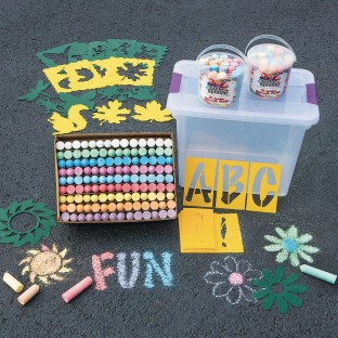 Color Splash!® Sidewalk Chalk Easy Pack - Image 1 of 2