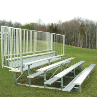 Bleachers, 5 Row/50 Seat 15' with Rail - Image 1 of 1